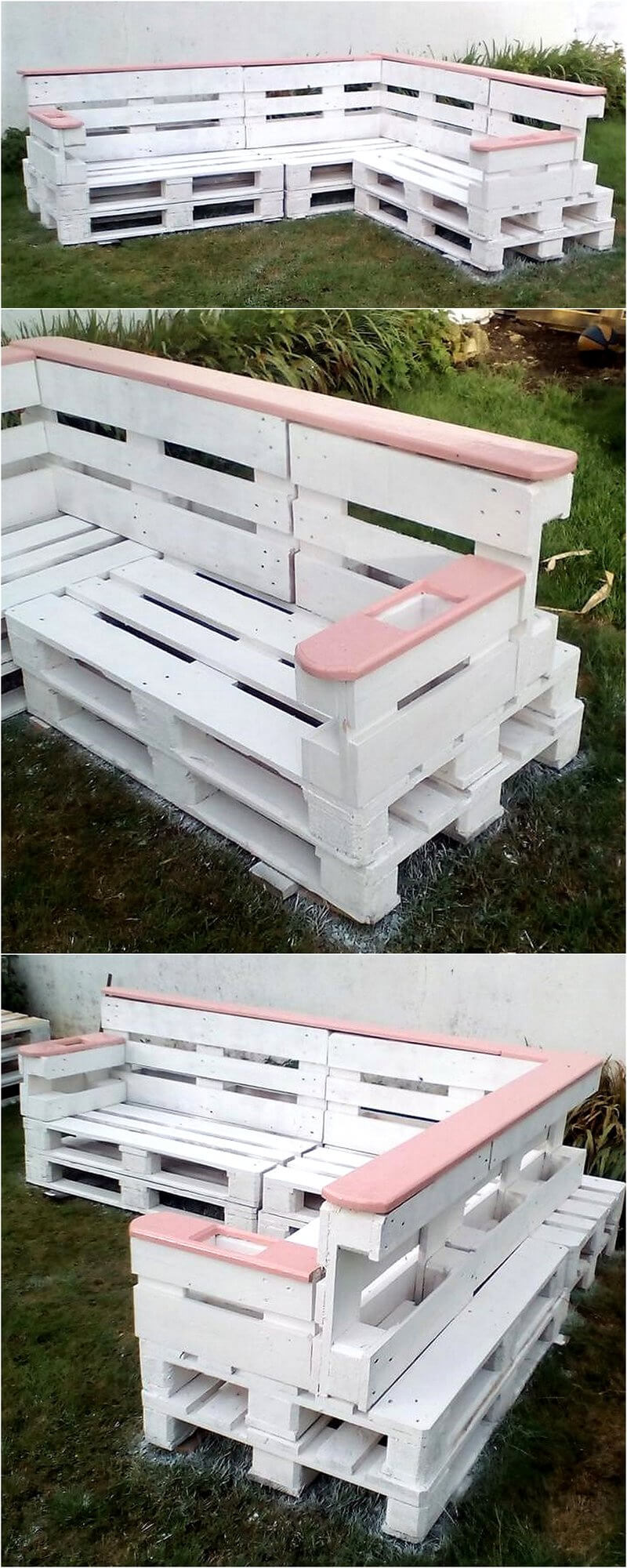 reused pallets couch plan