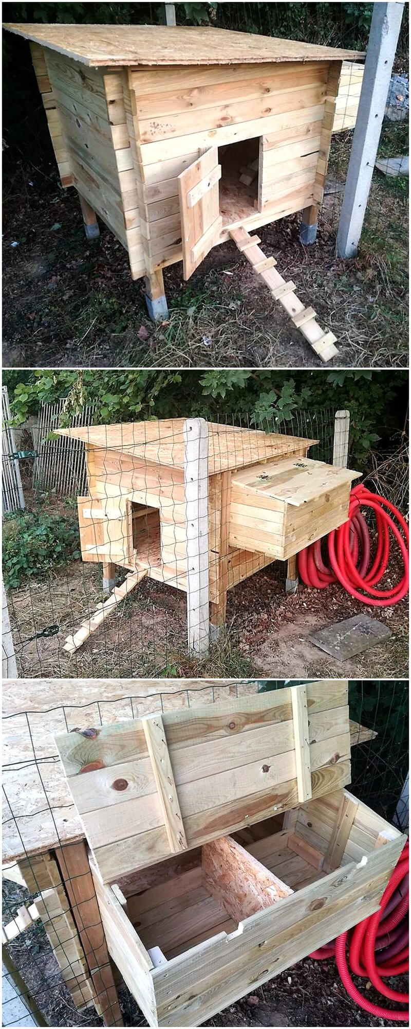 Incredible wood pallet ideas and projects pallet ideas for Wood pallet chicken coop
