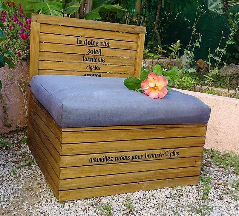 wood pallet daybed idea