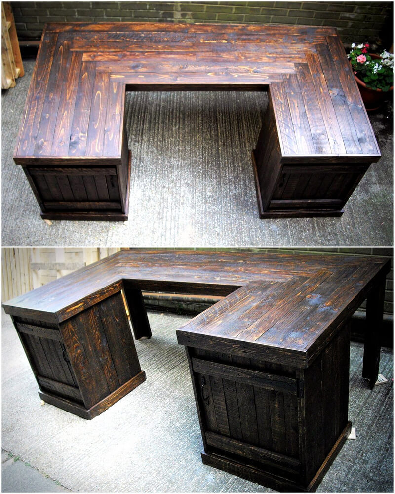 Wood Pallet Desk Idea