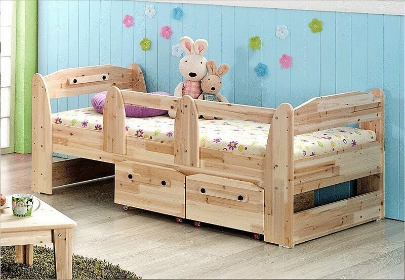 wood pallet kids bed