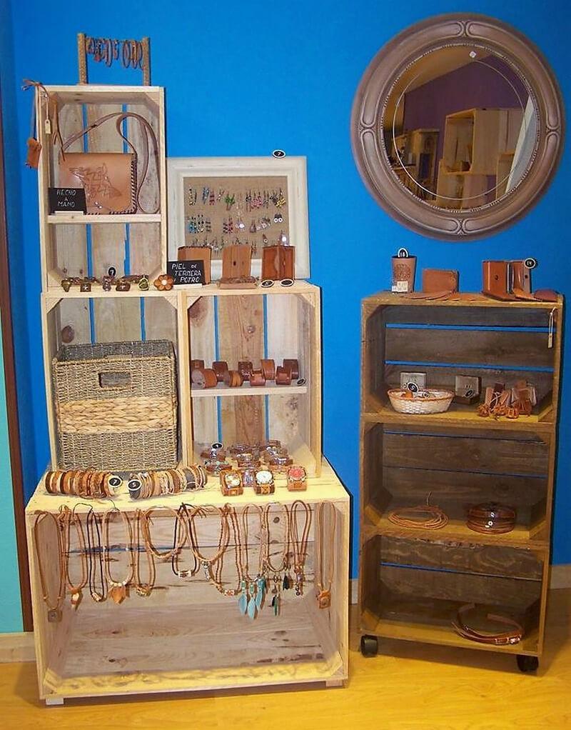 wood pallet vanity racks