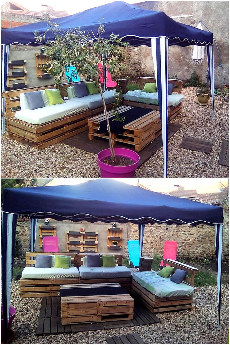wooden pallet gazebo furniture deck