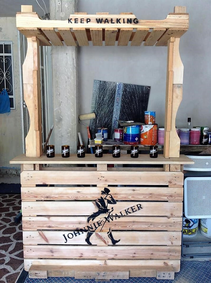 wooden pallet recycled bar