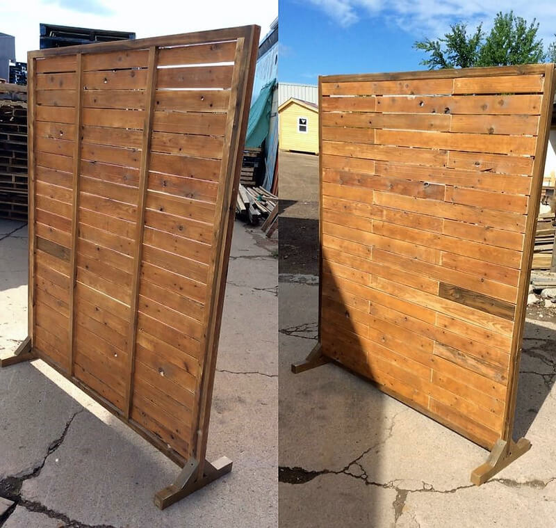 wooden pallet space divider