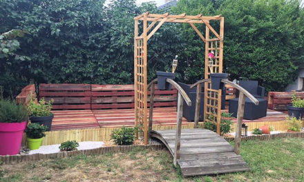Repurposed Wood Pallets Patio Garden Terrace