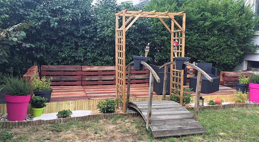 wooden pallets garden terrace