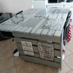 Recycled Wooden Pallets Central Kitchen Island
