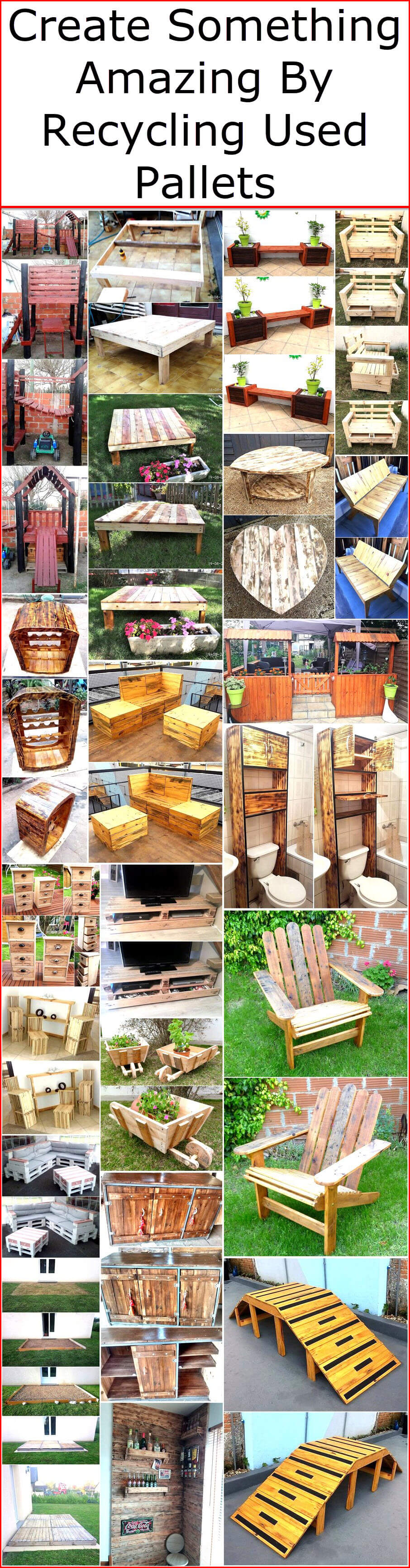 Create Something Amazing By Recycling Used Pallets