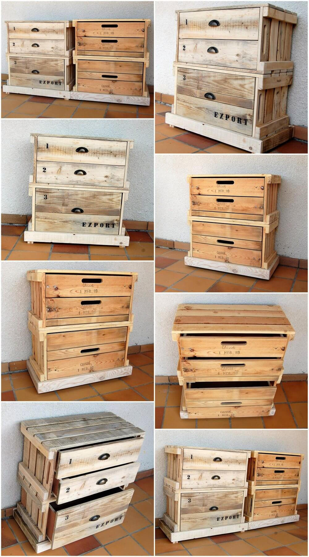Foyer Table Made From Pallets : Pallets wood made pair of entryway tables pallet ideas