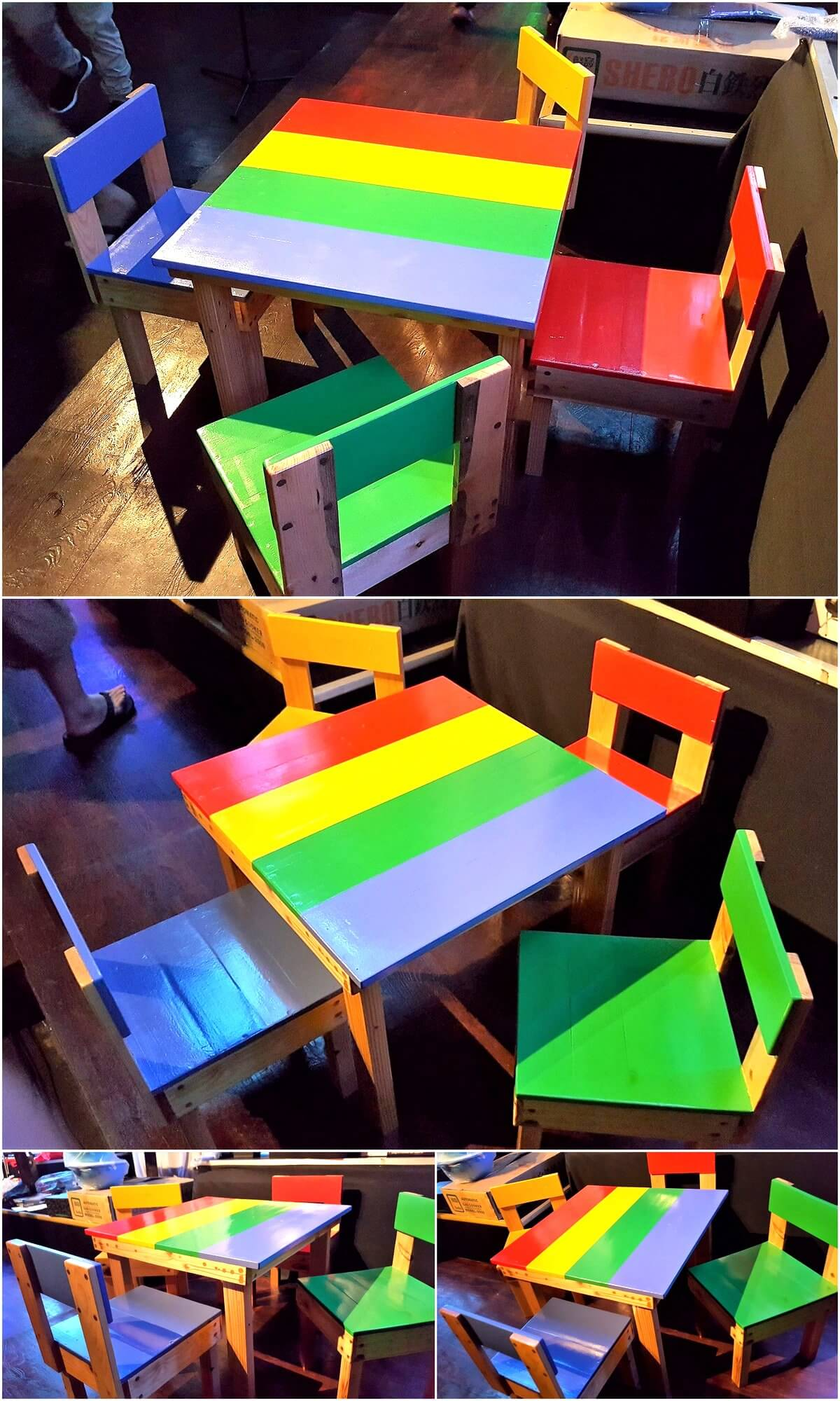 Repurposed Pallets Made Kids Furniture Set
