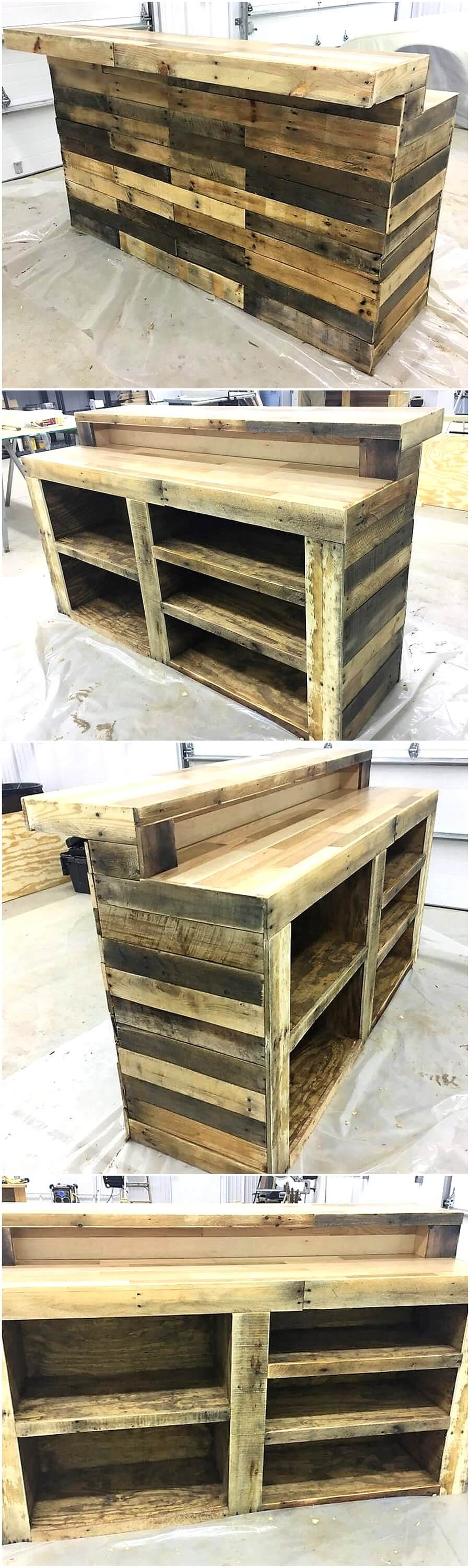 Repurposed Wooden Pallets Bar Classic Bar