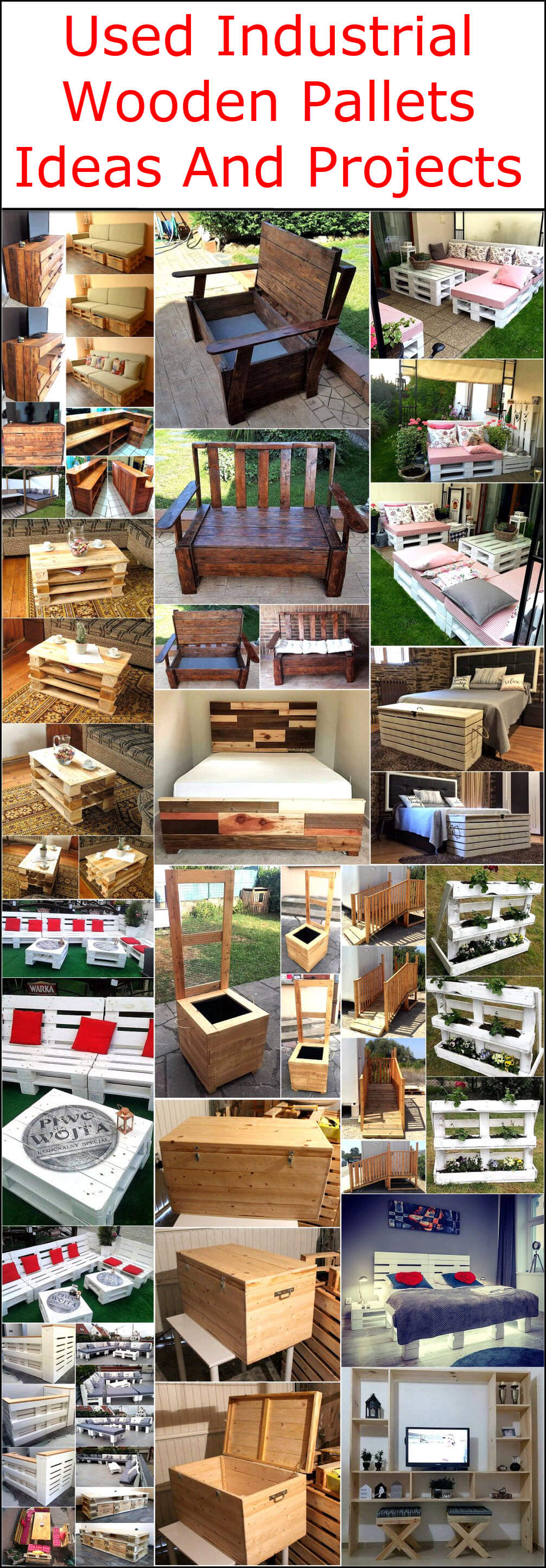 Used Industrial Wooden Pallets Ideas And Projects