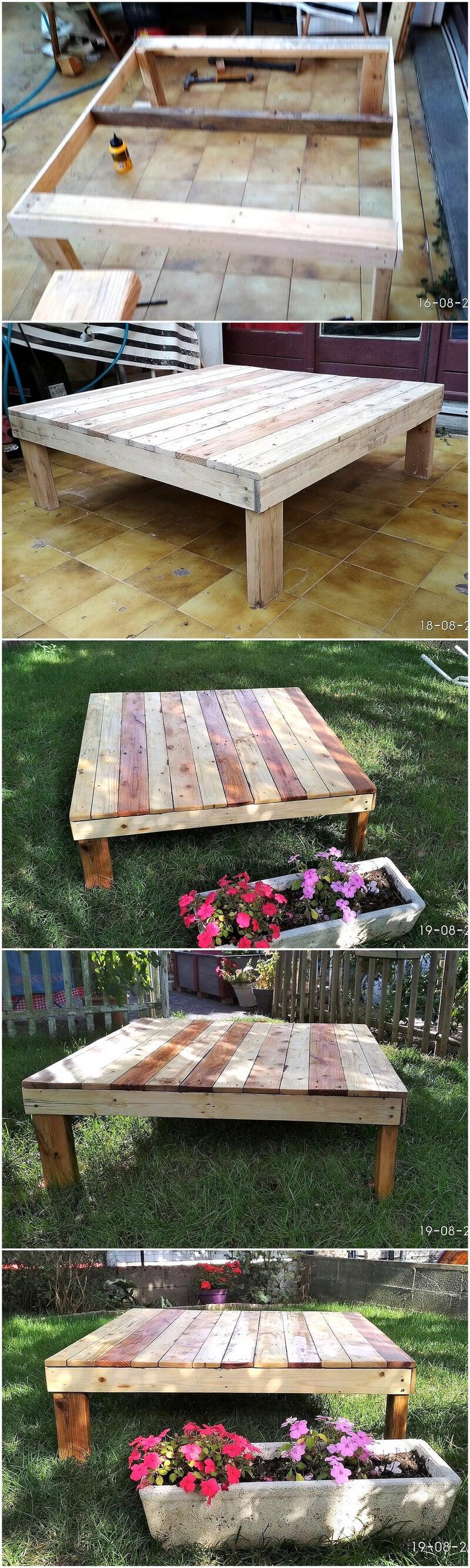 diy wood pallet garden table