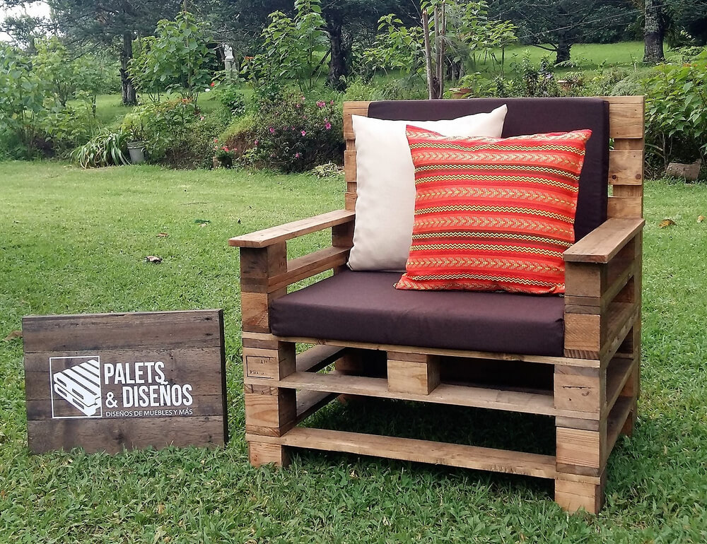 Recycled wooden pallet patio garden sofa set pallet ideas for Pallet patio sofa