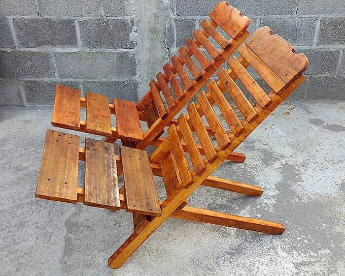 pallets folding chair