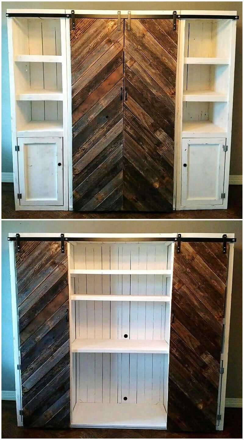 pallets made closet plan