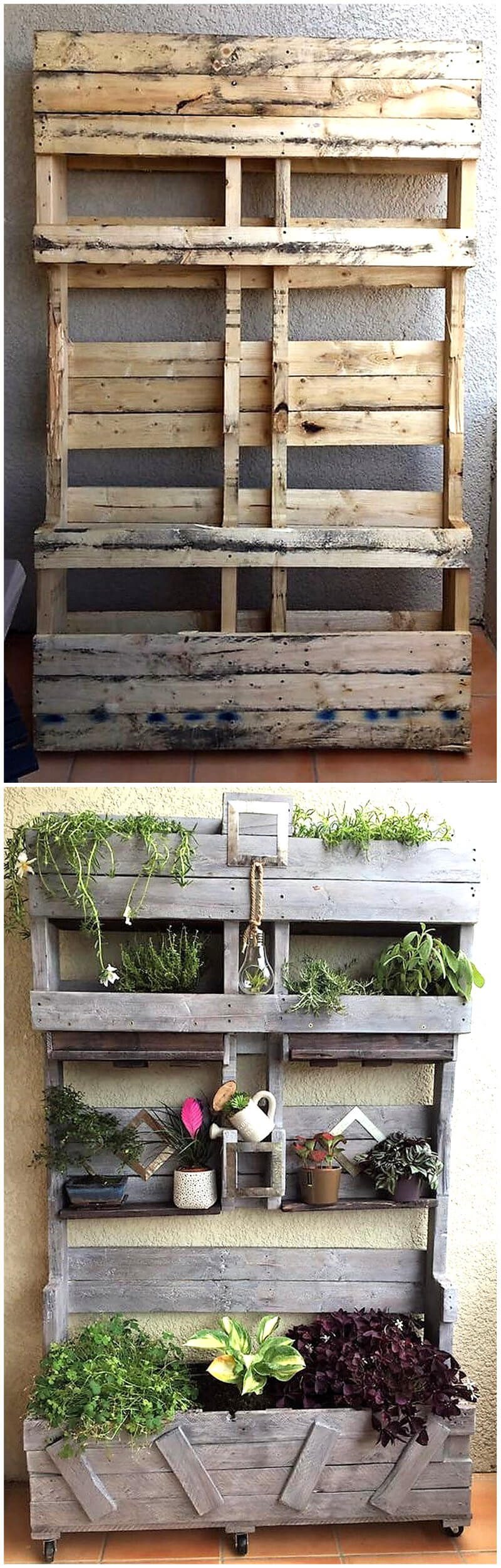 pallets made planter idea