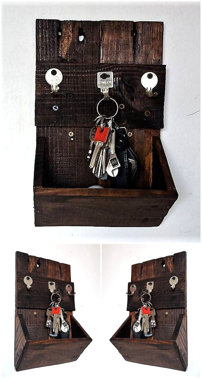 pallets made rustic key hanging shelf
