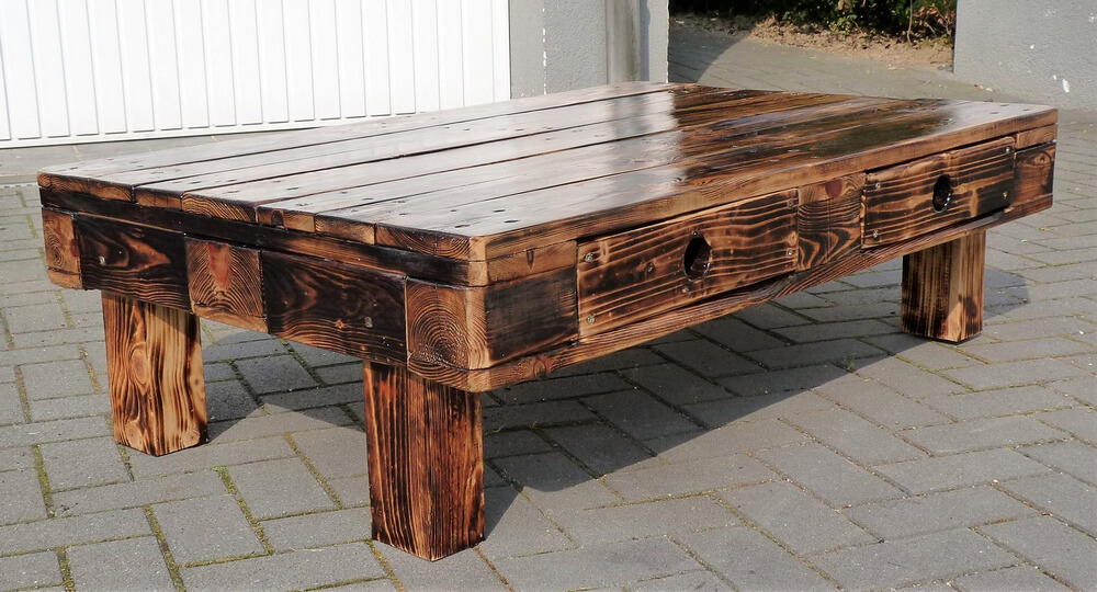 pallets made table