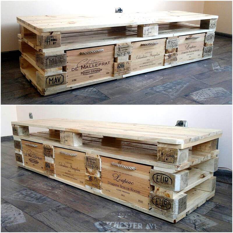 pallets rustic tv stand
