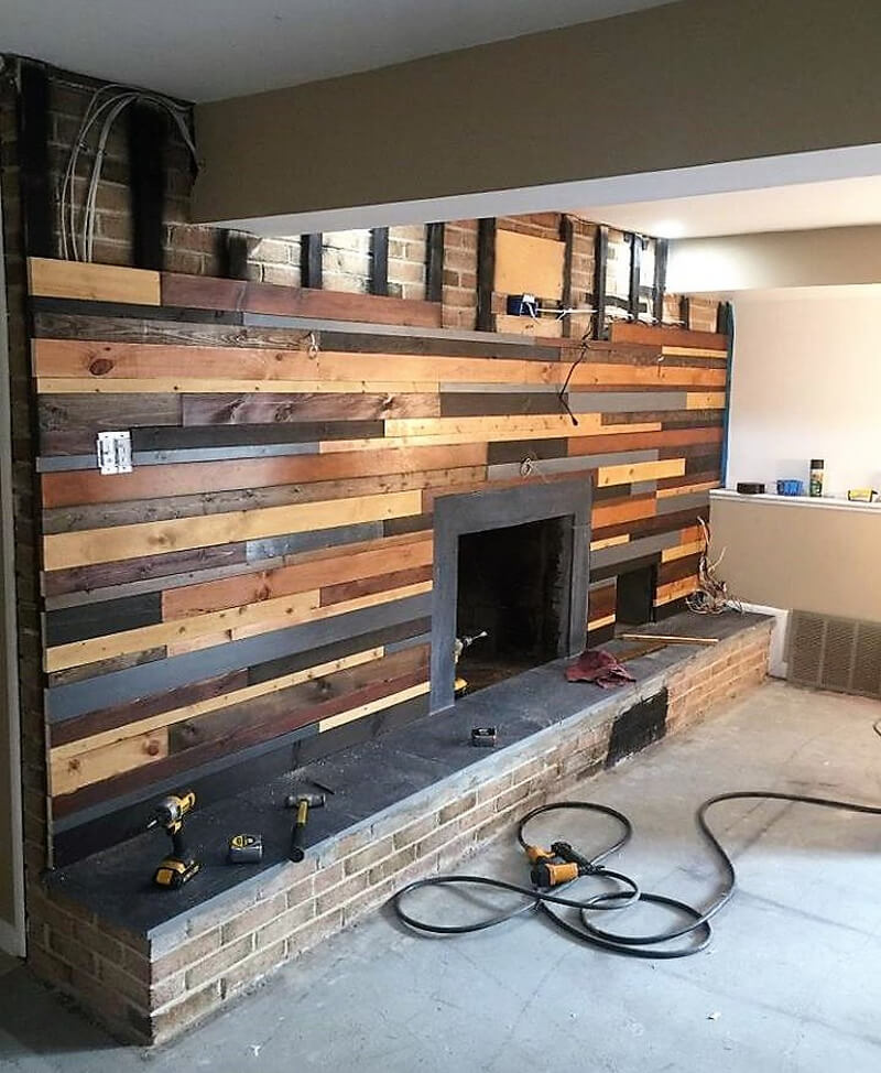 pallets wall plan diy