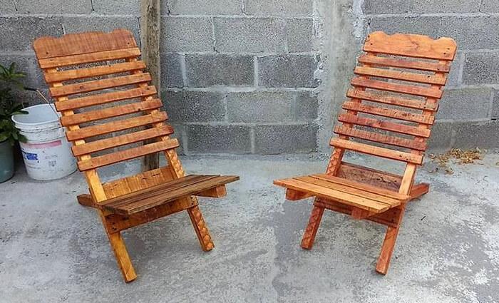 pallets wooden chair idea