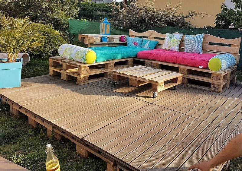 Superior Pallets Wooden Garden Terrace
