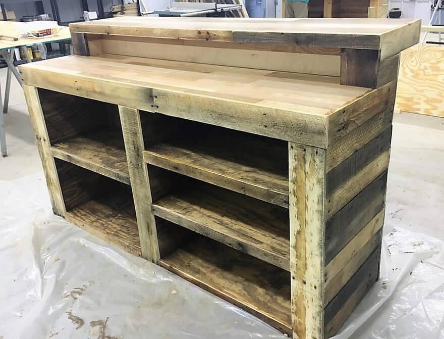 recycled pallet bar plan