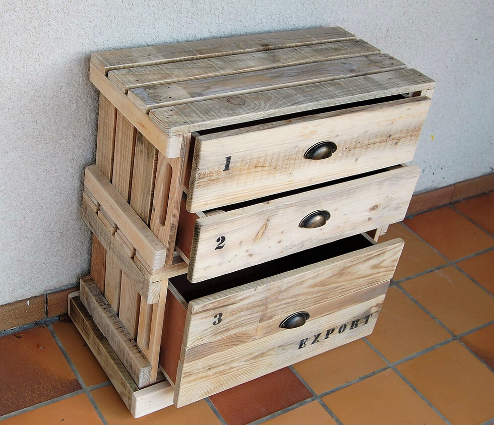 recycled pallets entryway table with drawers