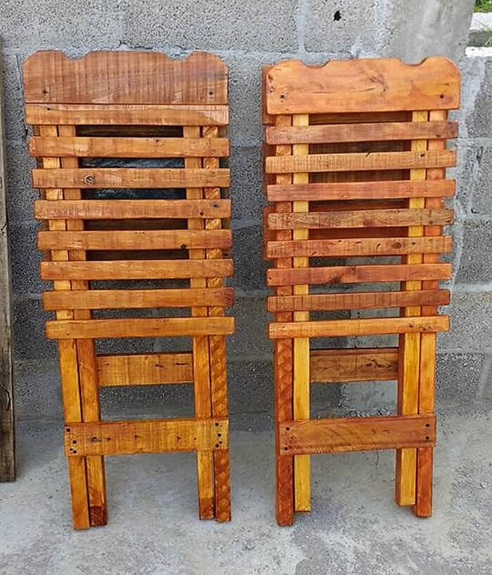 recycled pallets folding chairs