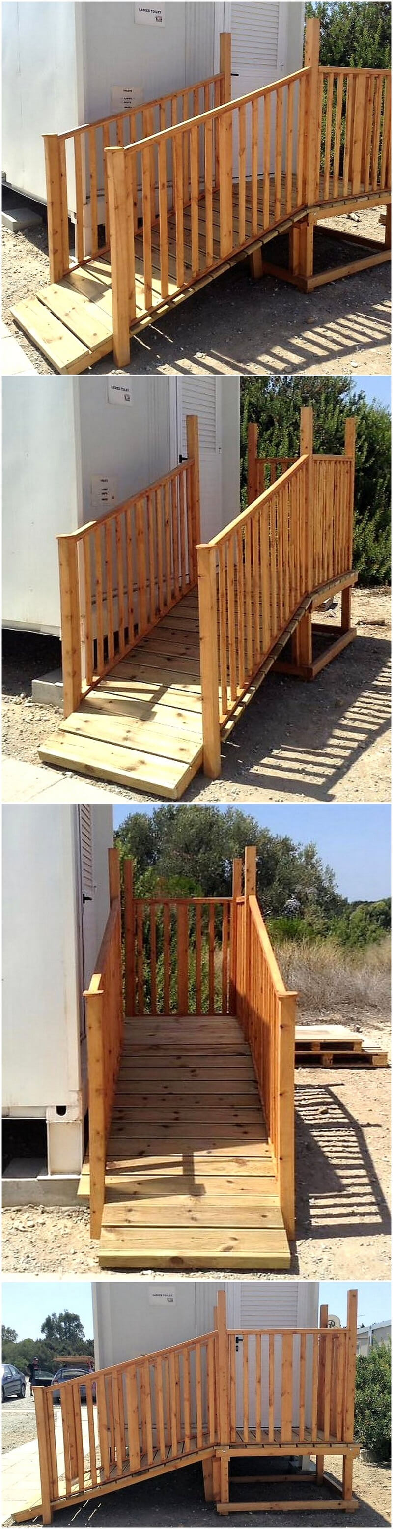 recycled pallets stairs idea