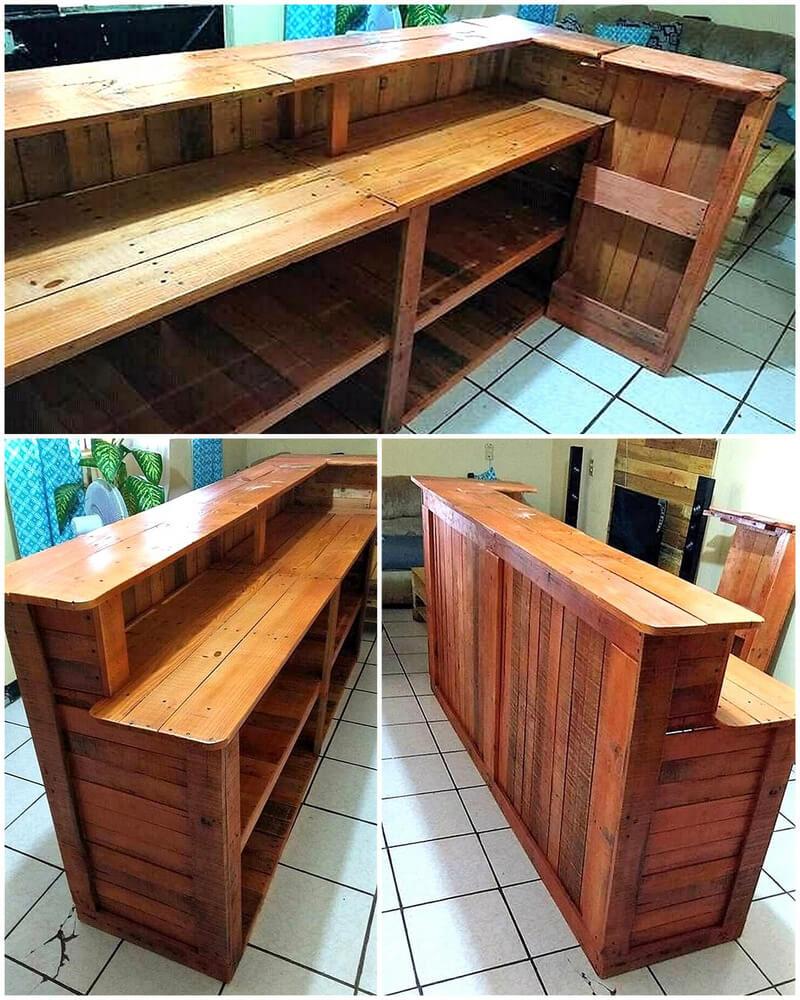 repurposed pallets bar