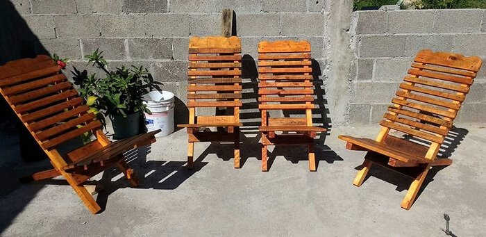 repurposed pallets chairs