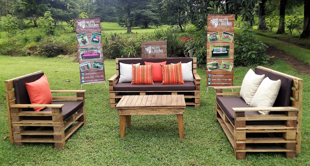 wood pallet patio furniture set