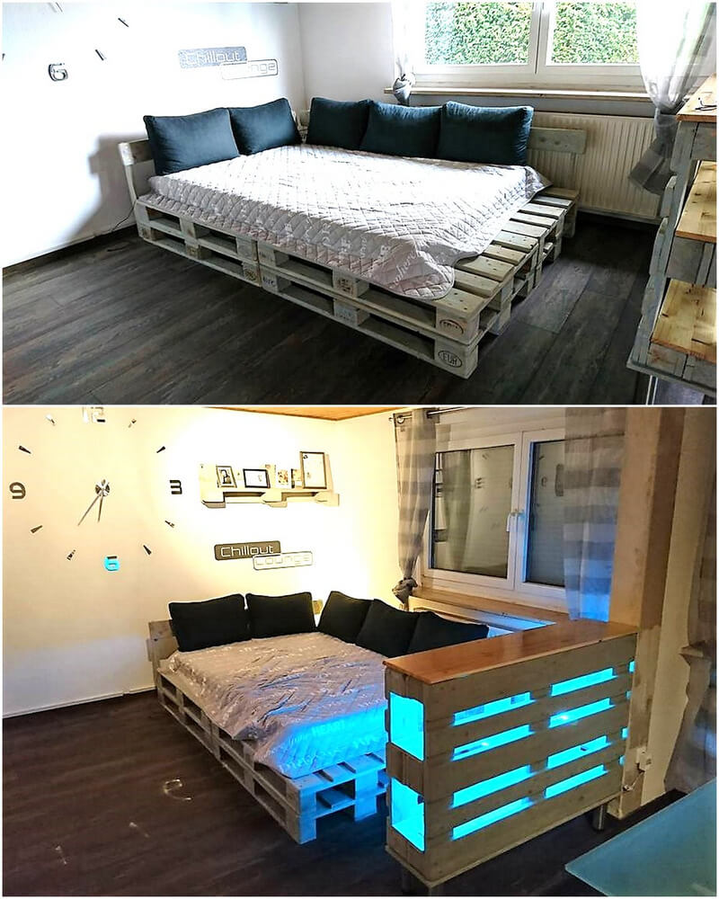 wood pallets bed plan