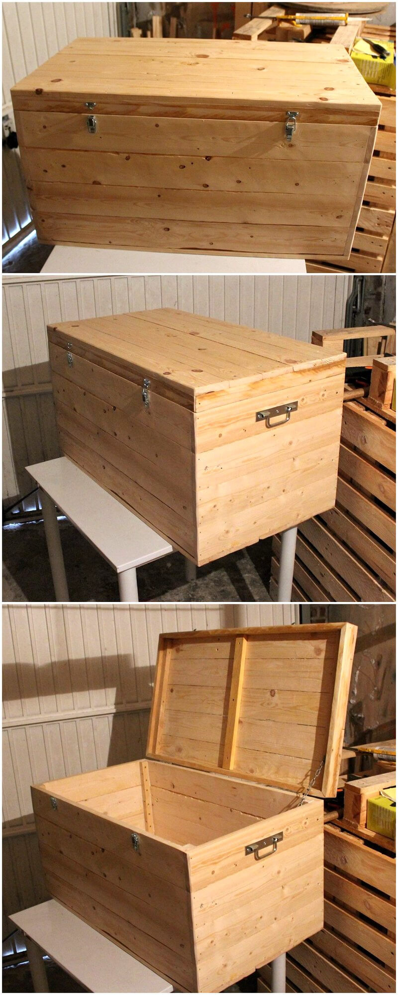 wood pallets chest box