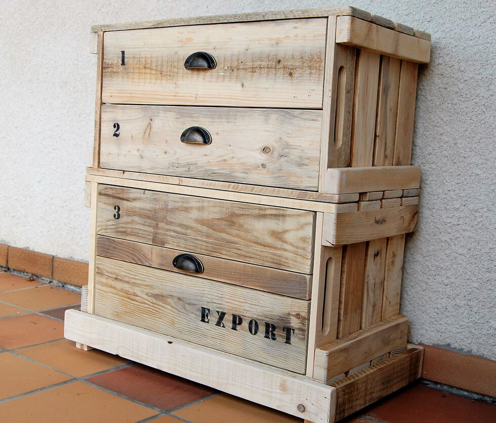 wood pallets entryway table plan