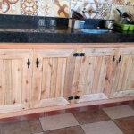 Wooden Pallets Kitchen Storage Cabinets