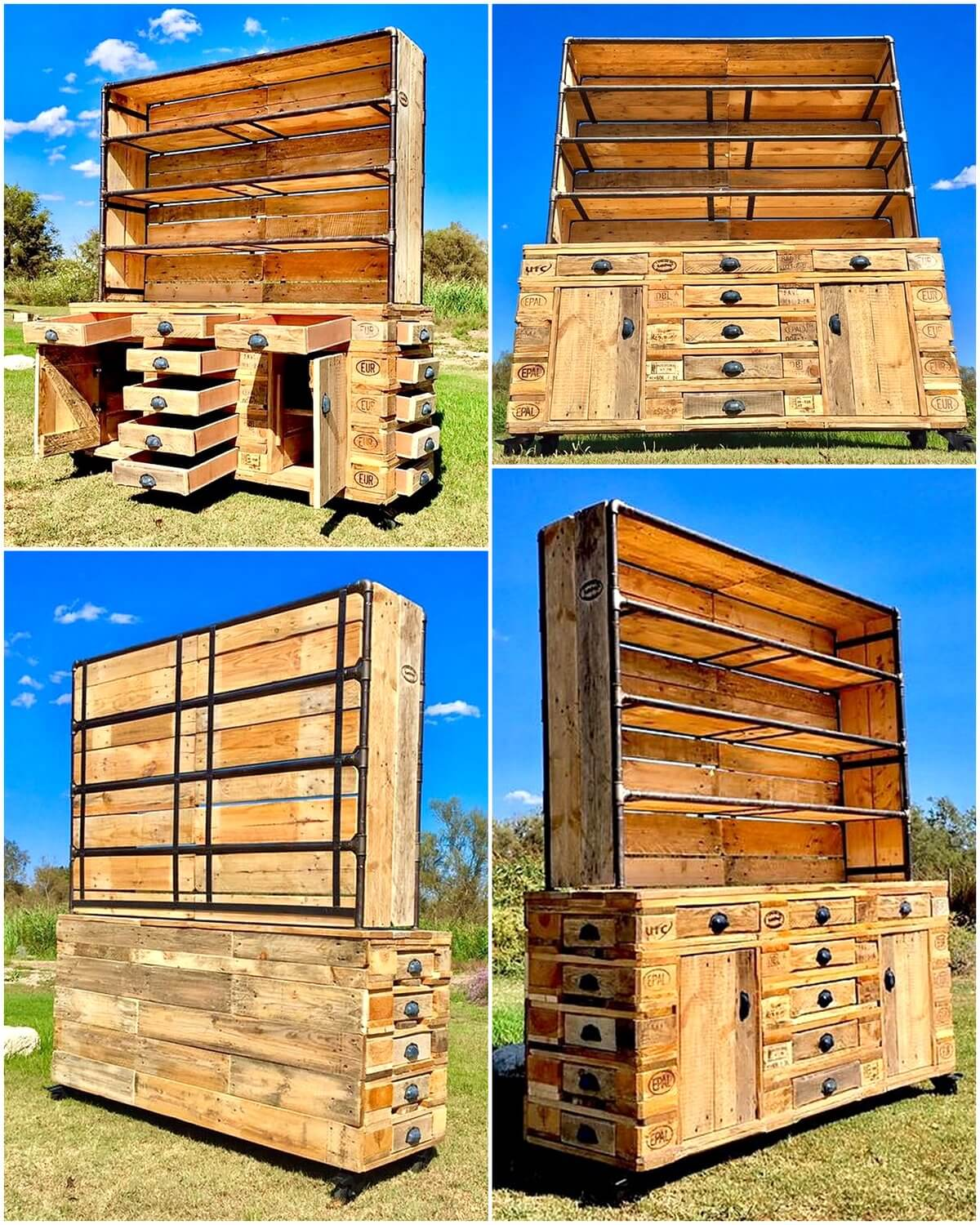Recycled Wooden Pallets Made Cupboard
