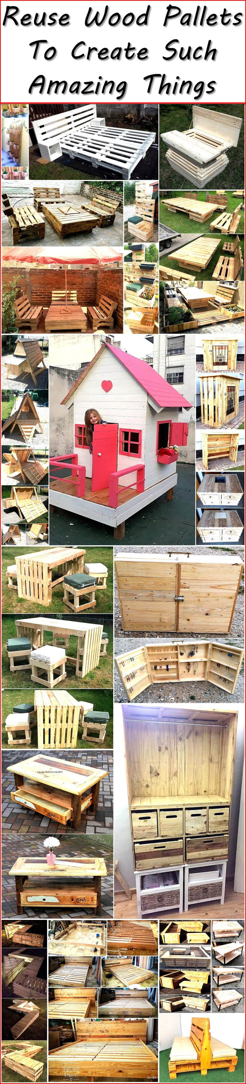 Reuse Wood Pallets To Create Such Amazing Things