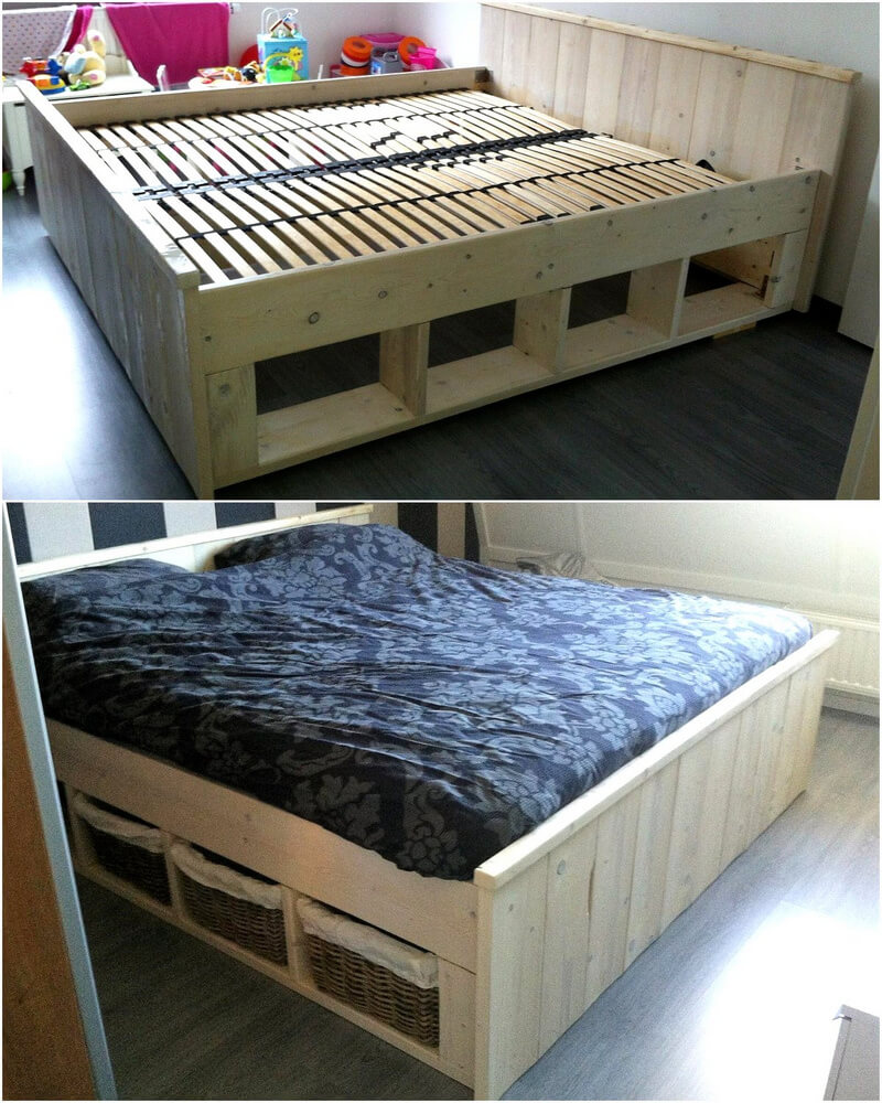 giant pallet bed frame