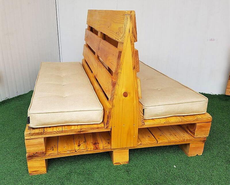 pallet double side seat idea