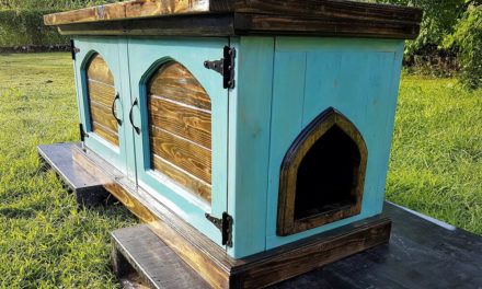 Wood Pallets Made Kitty Litterbox Cabinet
