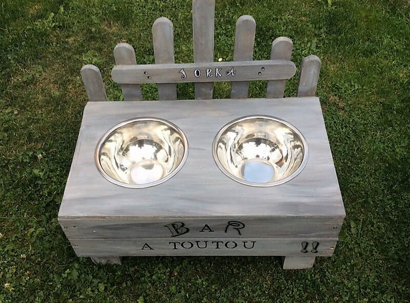 pallets dog food bowl