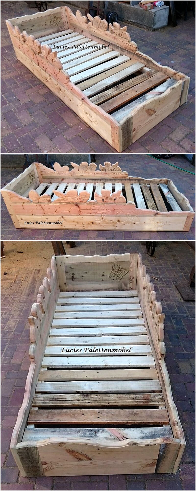 pallets made bed frame