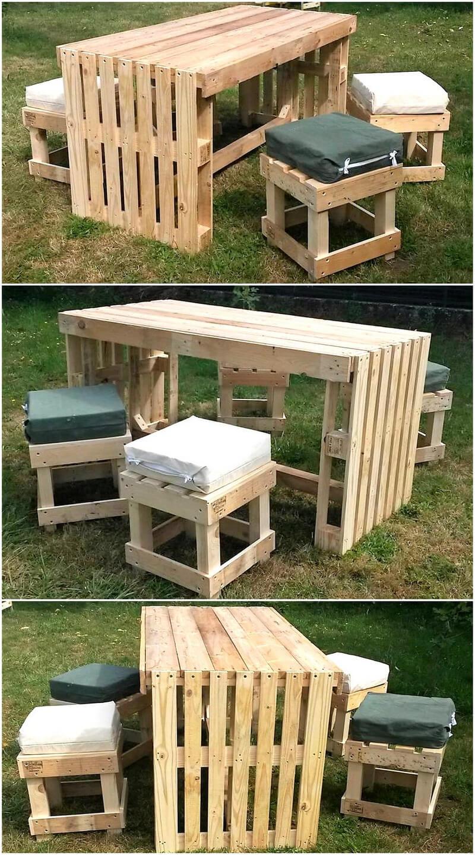 pallets patio lounge idea