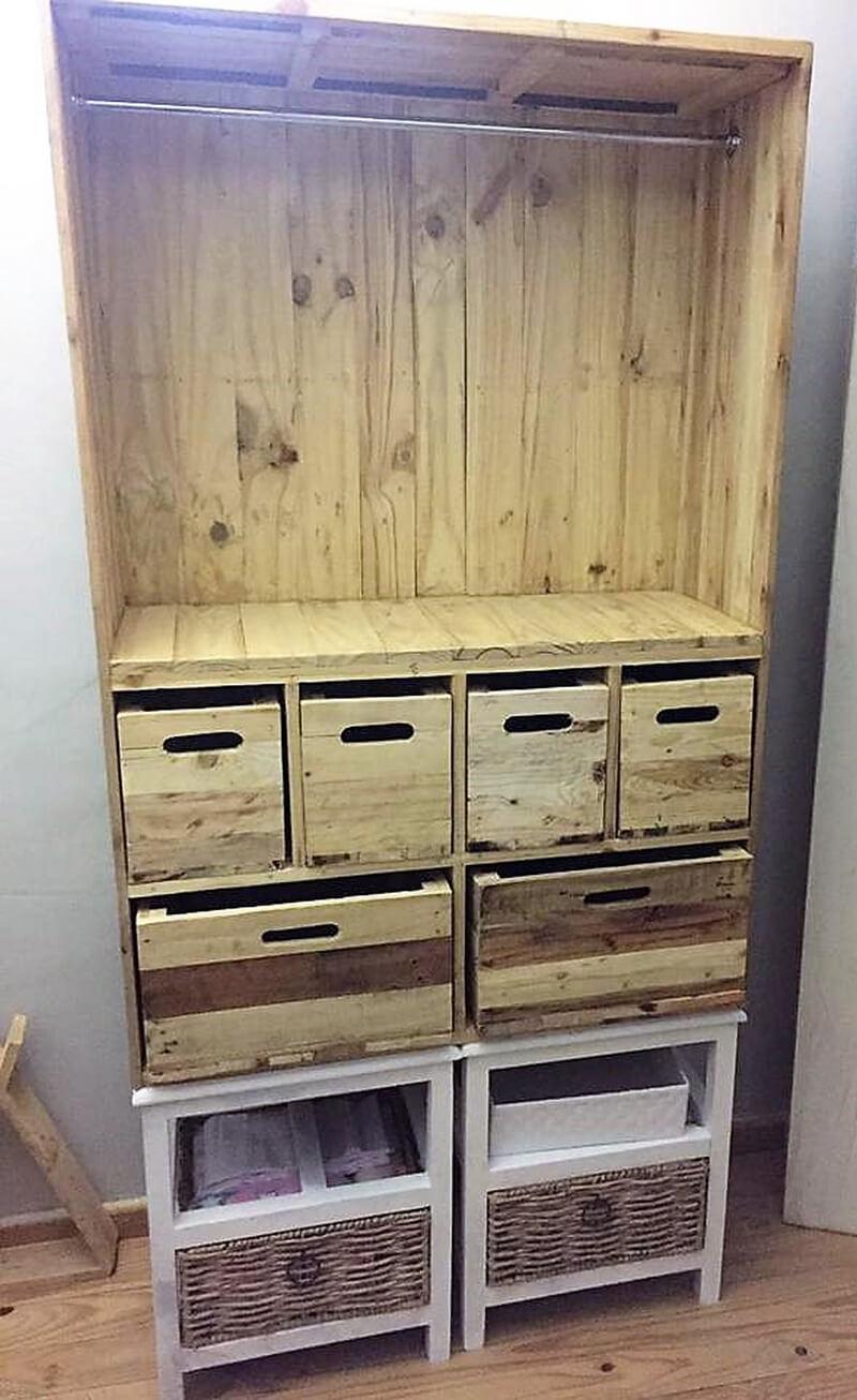 pallets storage cabinet plan