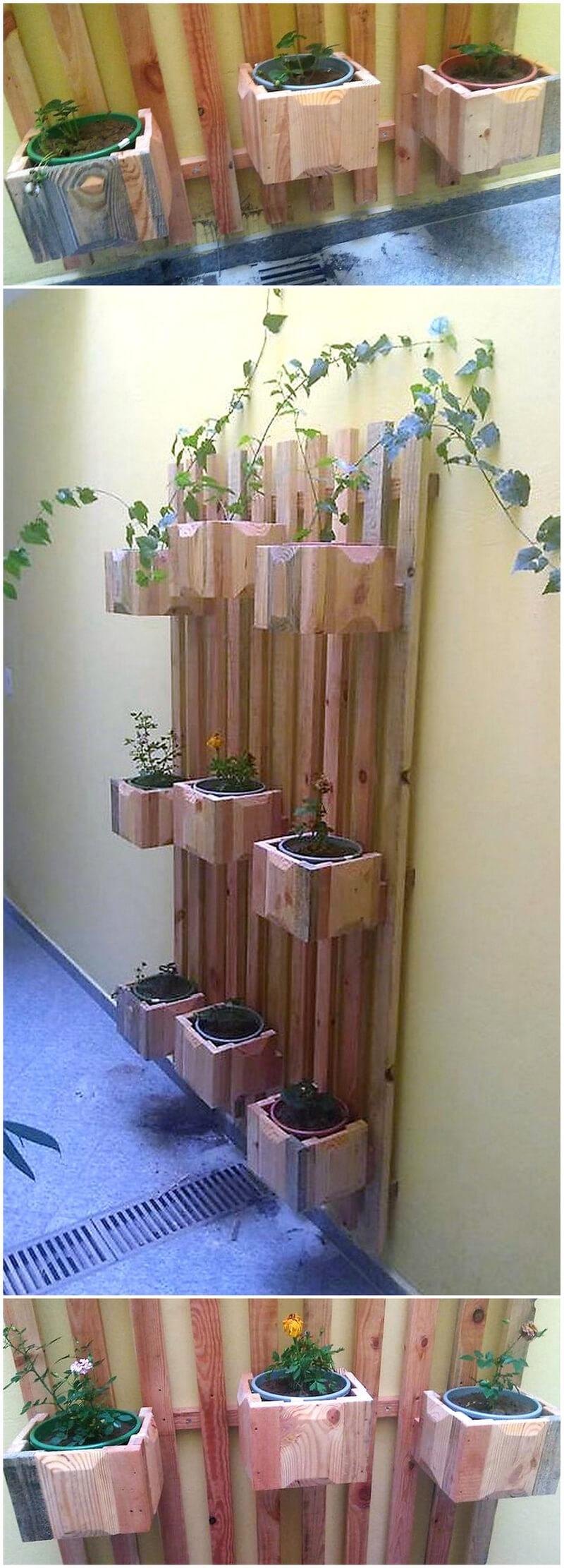 pallets wall planter idea