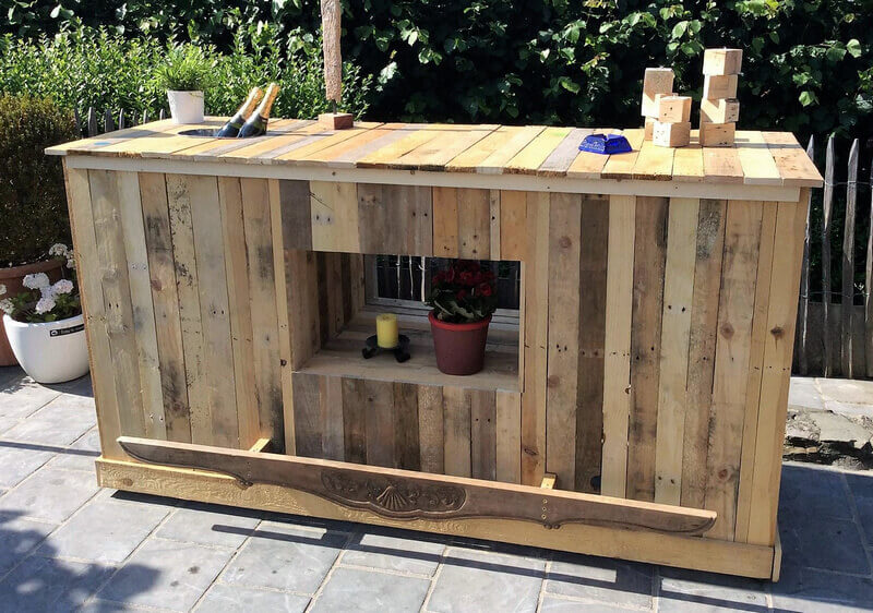 pallets wood garden bar